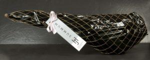 Imagen de jamón de bellota con funda de regalo