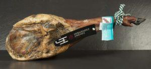 Etiqueta de jamón ibérico que establece la normativa del ibérico.