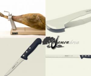 Cuchillos para cortar una paleta ibérica